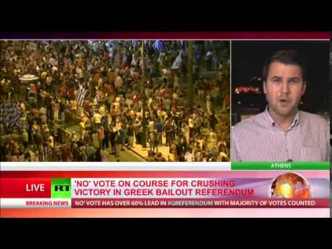 MORE than 61% of Greeks say 'No' in crucial bailout referendum - final tally
