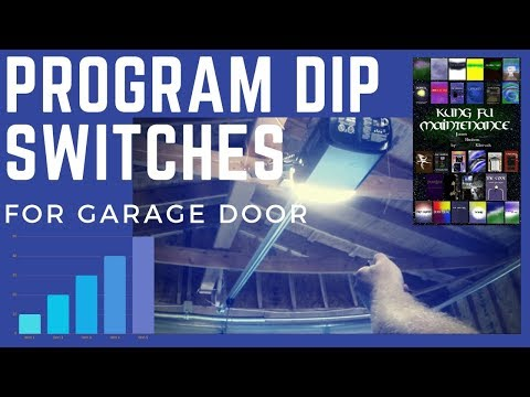 How To Program Dip Switches For Garage Door Gate Remotes Like Linear Chamberlain Universal Video