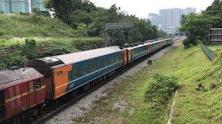 KTM Class24 Loco + Type JR14 Coach Trains at Johor Bahru マレー鉄道クラス24型機関車+元JR14系客車回送列車@ジョホール・バル