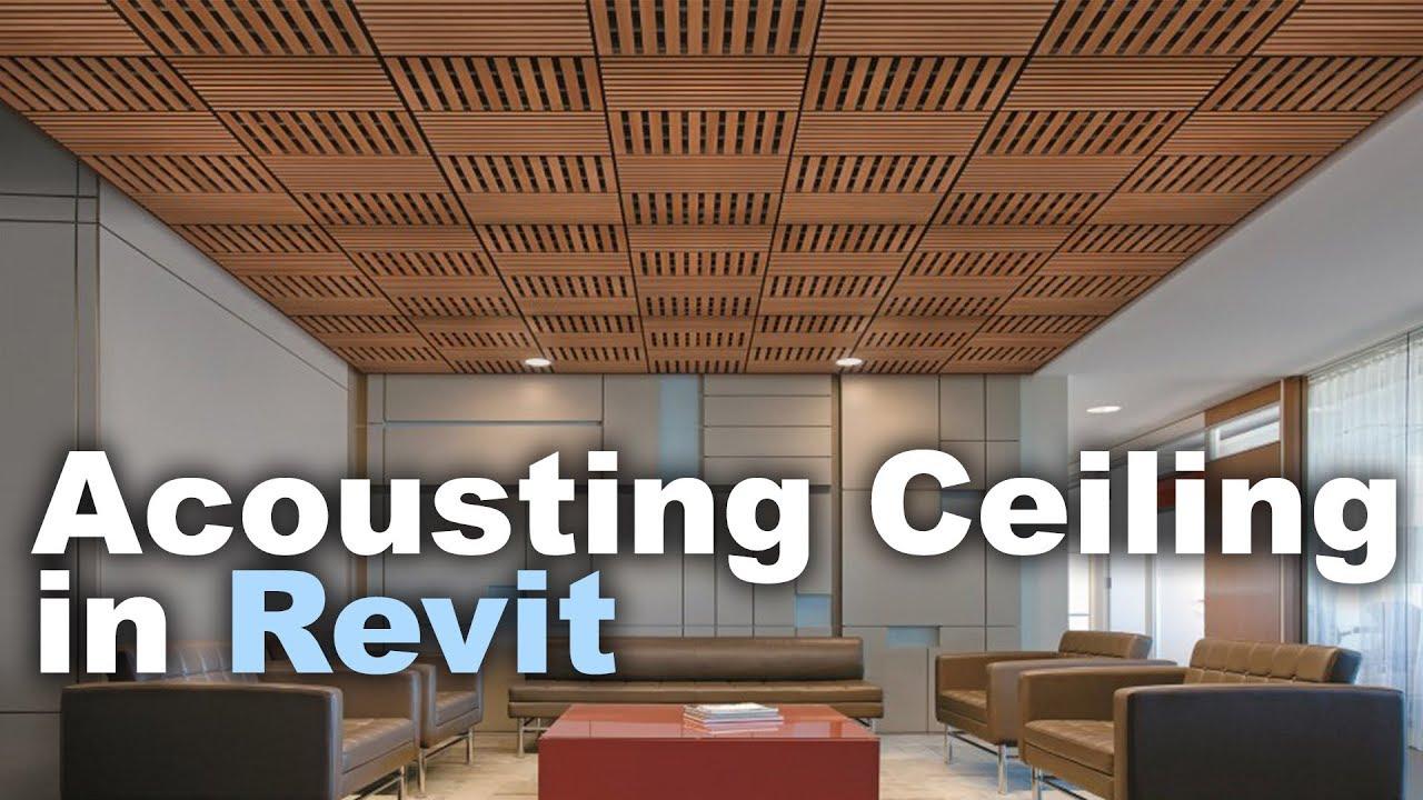 Acoustic Ceiling in Revit Tutorial