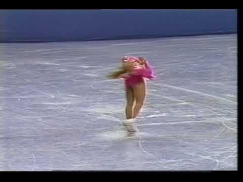 Tonya Harding (USA) - 1991 Skate America, Ladies' Original Program (First 3A-2T Ever Completed)