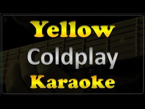 Coldplay - Yellow - Acoustic Guitar Karaoke # 3