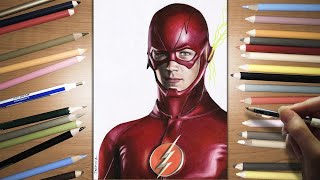 Speed Drawing: The Flash - Grant Gustin | Jasmina Susak