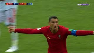 برتغال رونالدو تتعادل مع إسبانيا - Ronaldo VS Spain