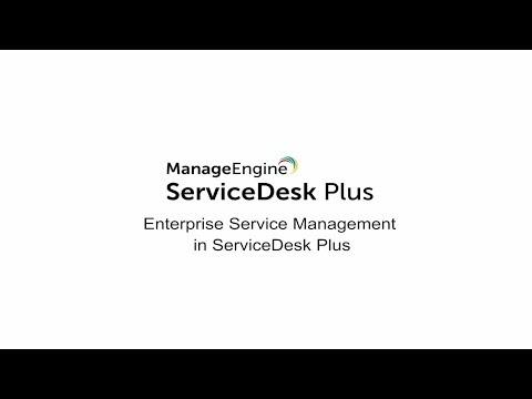 Enterprise service management (ESM) in ServiceDesk Plus