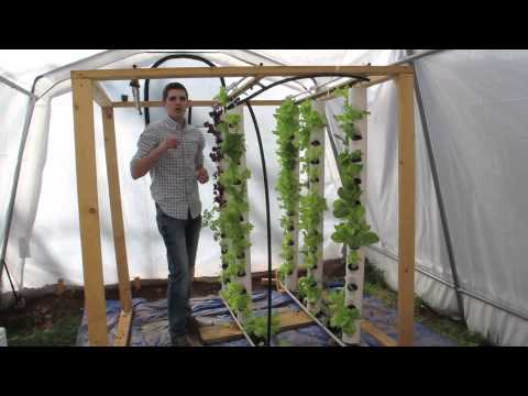Aquaponics System – Solar Powered Vertical Tower www.agrowponics.com