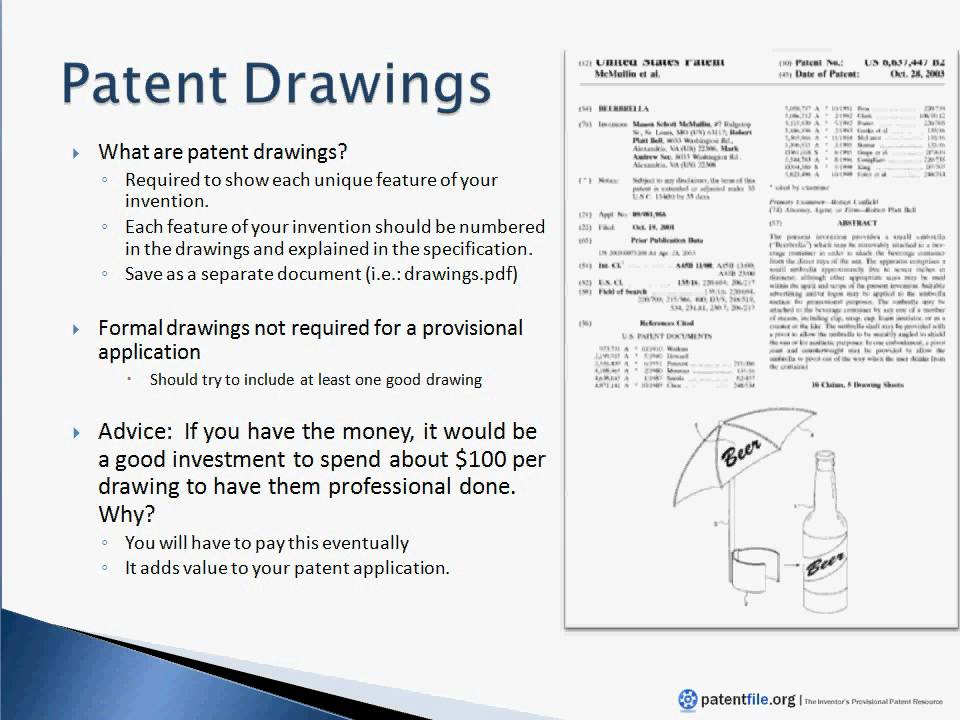 How to Create Patent Drawings - Part 1 - YouTube - provisional patent application example