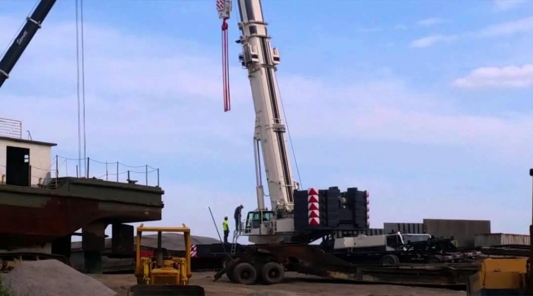 Sterett cranes brand new Terex AC500/2 - YouTube