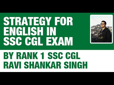Rank 1 SSC CGL Ravi Shankar - Strategy to Crack English in SSC CGL 2017