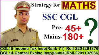Strategy to score 180+ in MATHS (CGL-Mains)