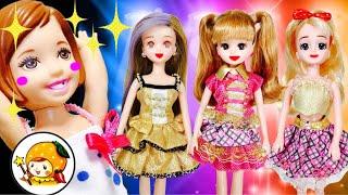 リカちゃん ケリーのアイドル握手券を双子の先輩が奪う【後編】 プレゼントはバッグや靴❤ おもちゃ バービー人形 アニメ ここなっちゃん thumbnail