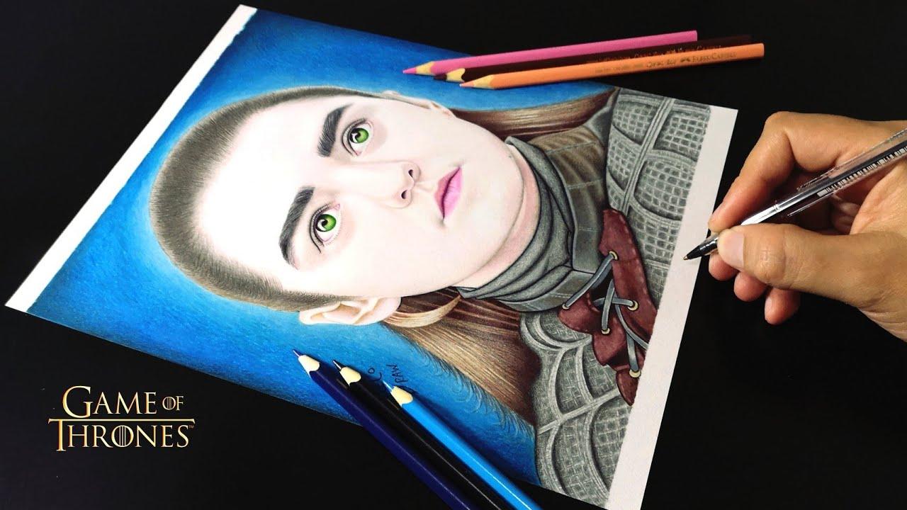 Drawing Arya Stark, Como Dibujar A Arya Stark, MarceloDraw, Dibujos De Game Of Thrones, #1