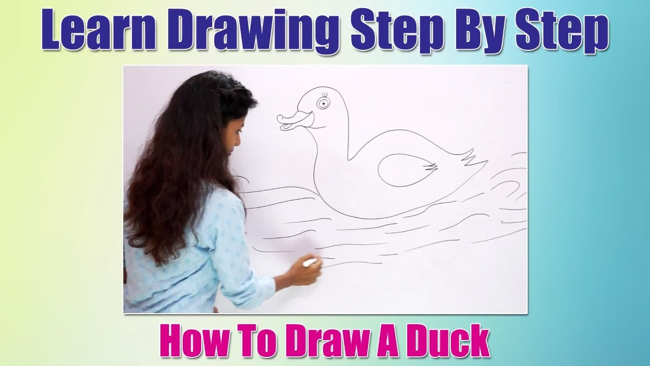 How To Draw Birds For Children How To Draw A Duck Learn Drawing