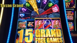 ★SUPER BIG WIN☆NEW ! Tarzan Grand Slot machine (Aristocrat)★Live play $3.00 Bet @San Manuel ☆彡