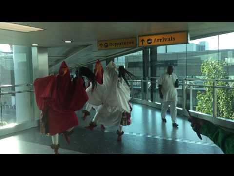 The Olu of Warri - His Majesty Ogiame Ikenwoli at Heathrow airport 2016 - 5