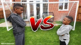 BIG BRO VS LIL BRO FOOTBALL CHALLENGE!