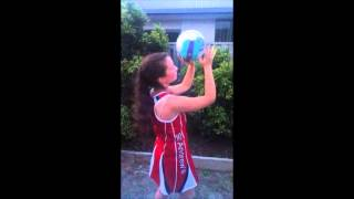SARAH S 8B How to Shoot a Goal in Netball