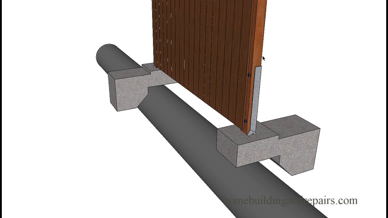 How To Install Wood Fence Posts Over Drainage Pipes – Landscaping Ideas