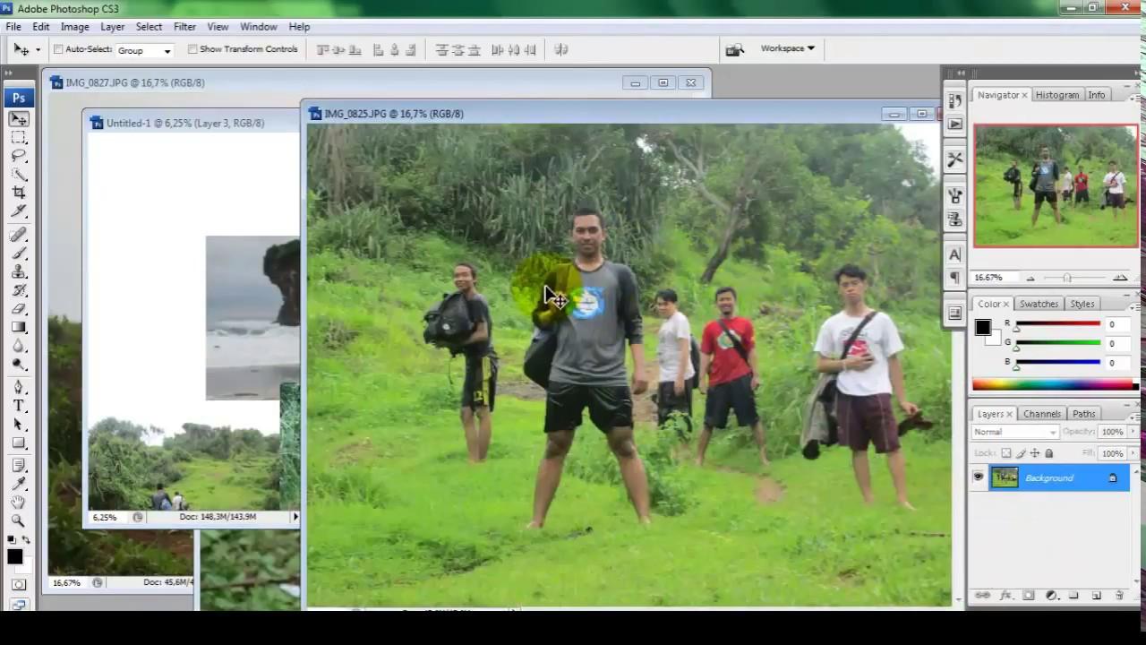 Menggabungkan Banyak Foto Menjadi Satu Frame Dengan Photoshop Youtube