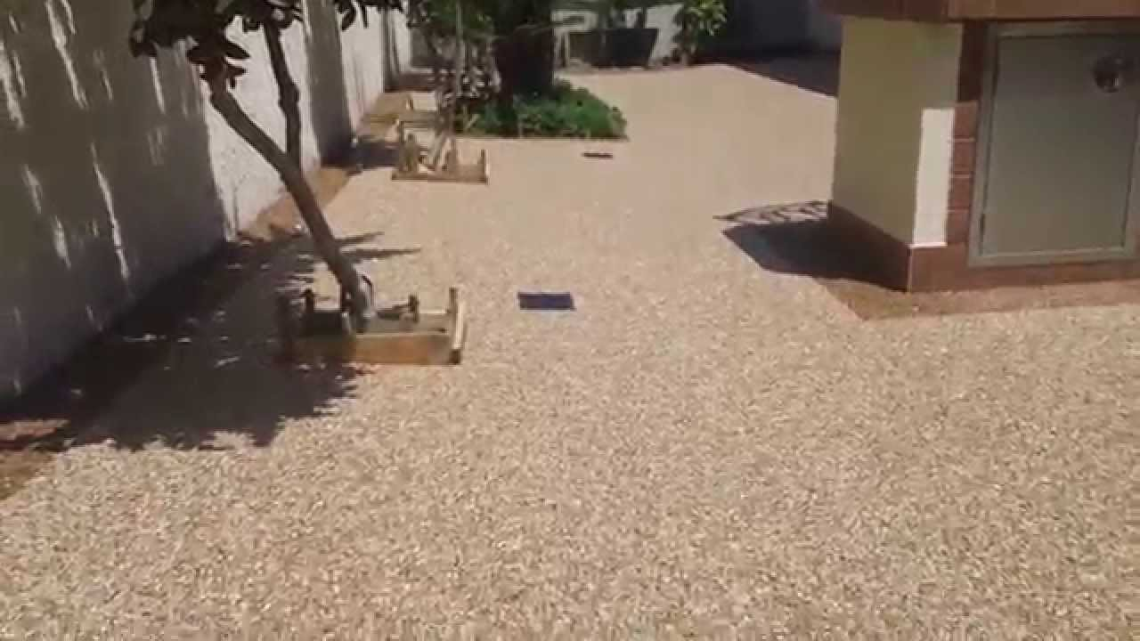 Installing pebbletec floor system on patio, by Stone ...