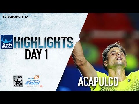 Highlights: Ferrer, Harrison Advance On Day One Acapulco 2018