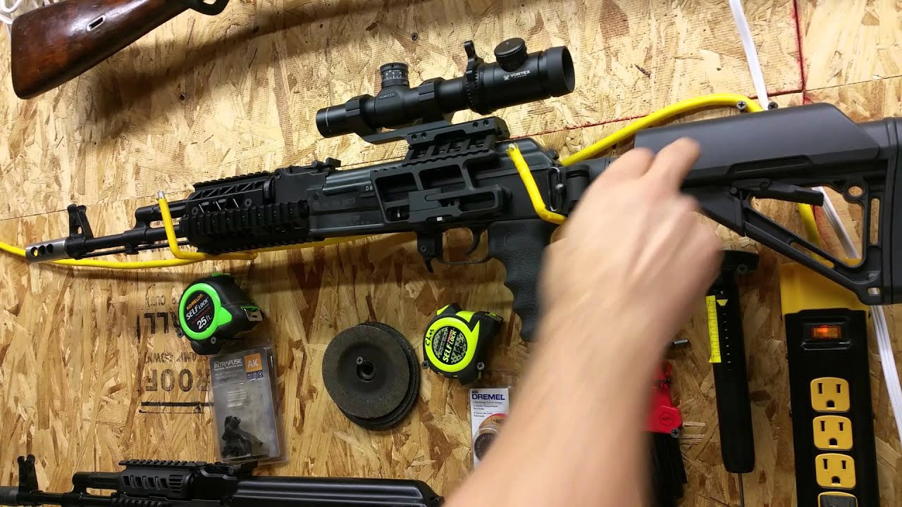 Ace CAR-15 Fixed Stock Adapter on Milled AK