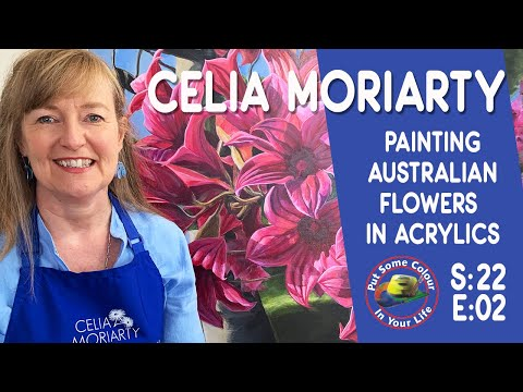Painting Realistic Flowers in Acrylic with Celia Moriarty | Colour In Your Life
