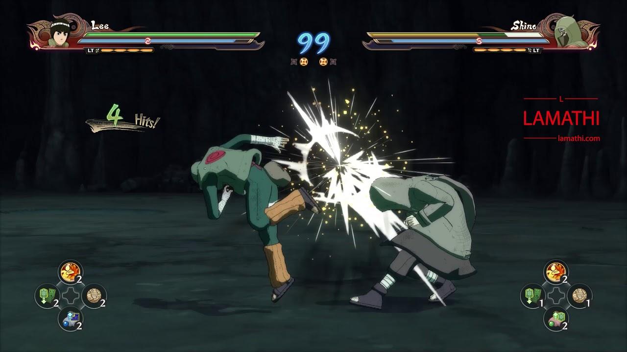 Rock Lee vs Shino | Naruto Shippuden Ultimate Ninja Storm 4 - YouTube