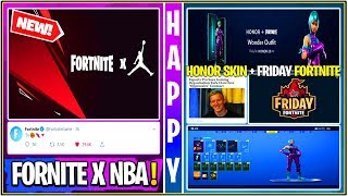 *NEW* Fortnite x Jordan/NBA, Honor Wonder Skin, Keemstar Friday Fortnite, & Much More!