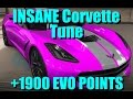 CSR Racing 2 GODLY *+1900 EVO* CORVETTE STINGRAY TUNE
