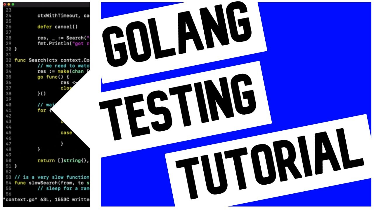 Go (Golang) Testing Tutorial