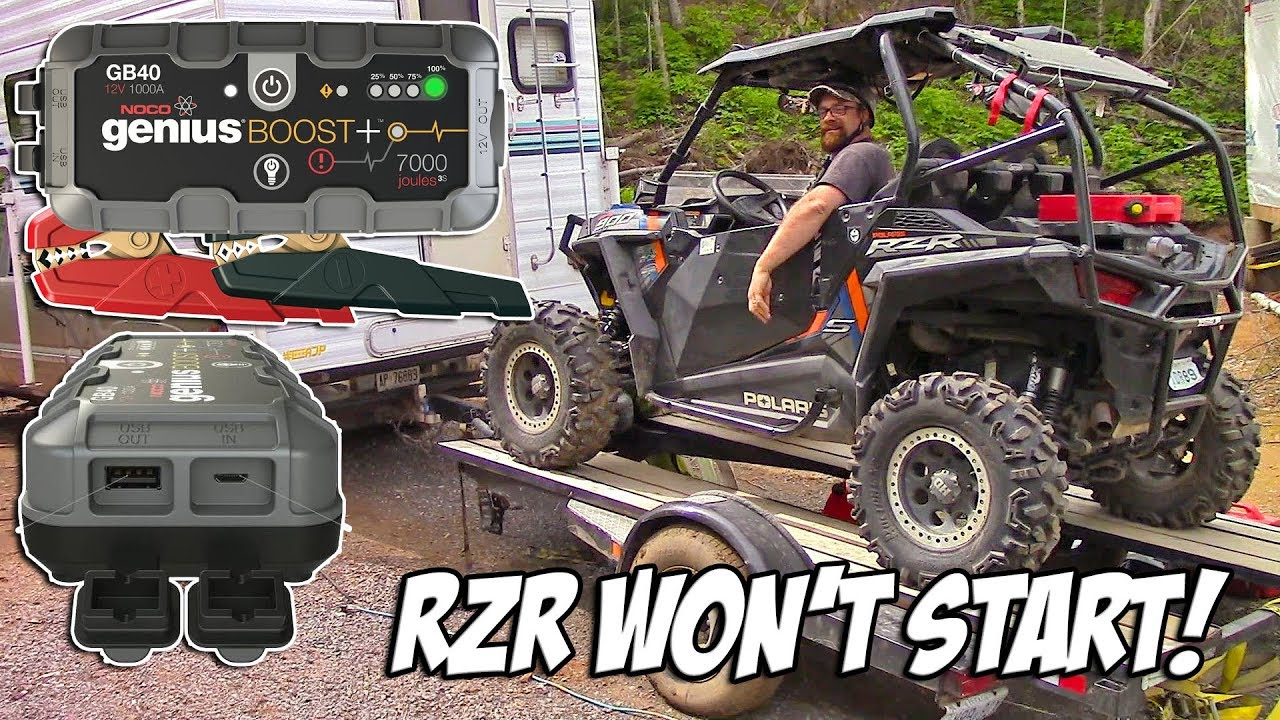 Rzr Won T Start Noco Genius Booster Saves The Day How To Jump Start A Polaris Rzr Youtube