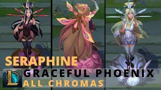 Graceful Phoenix Seraphine All Chromas - League of Legends