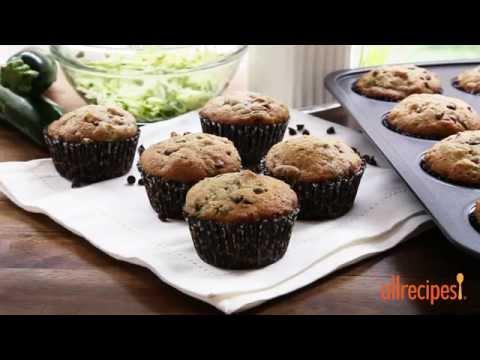 How To Make Zucchini Chocolate Chip Muffins | Zucchini Recipes | Allrecipes.com