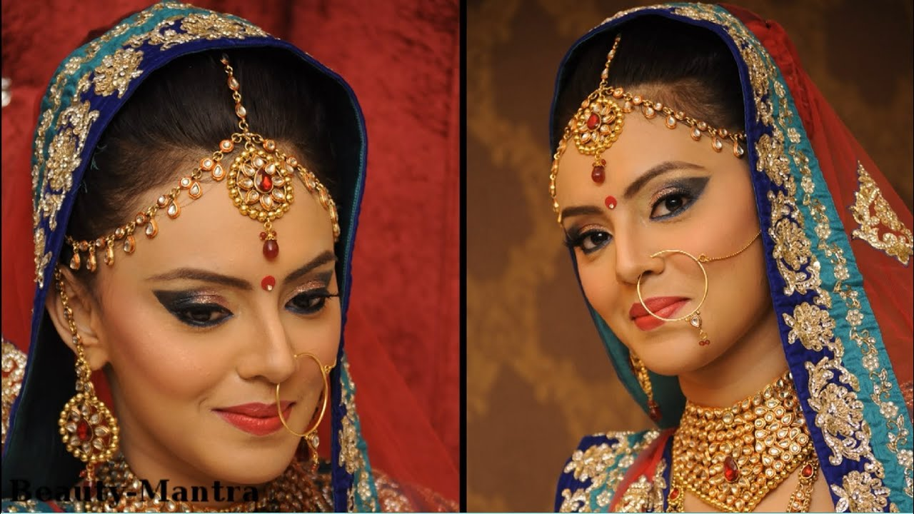 indian bridal makeup blue and green eyes with touch of gold youtube. Black Bedroom Furniture Sets. Home Design Ideas