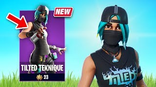 New Tilted Teknique Skin Gameplay - Aerosol Assassins Set! (Fortnite Battle Royale)