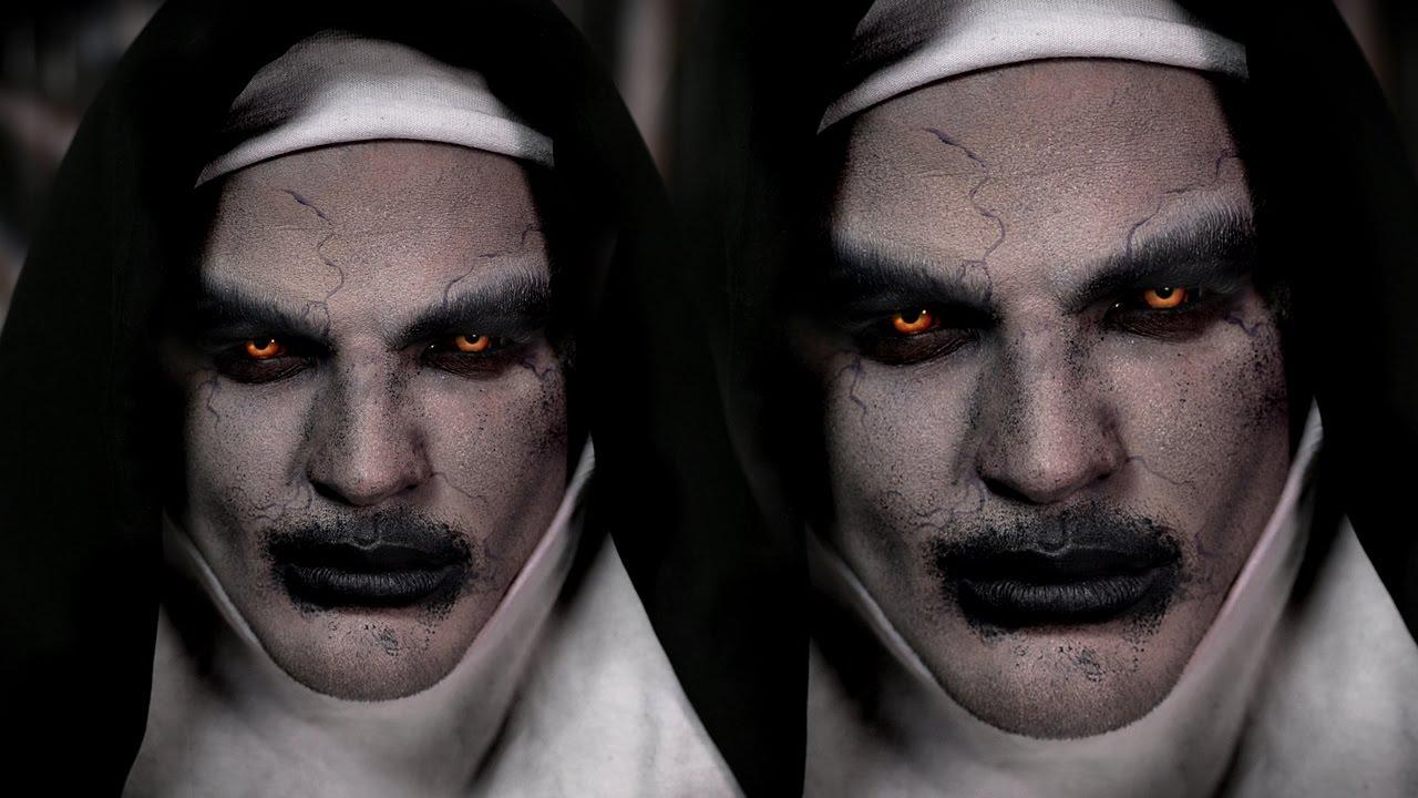 Valak Demon Nun Halloween Makeup Tutorial | The Conjuring ...