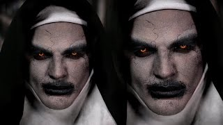 Valak Demon Nun Halloween Makeup Tutorial | The Conjuring 2