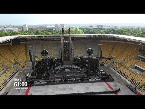 Rammstein - Europe Stadium Tour (Time Lapse)