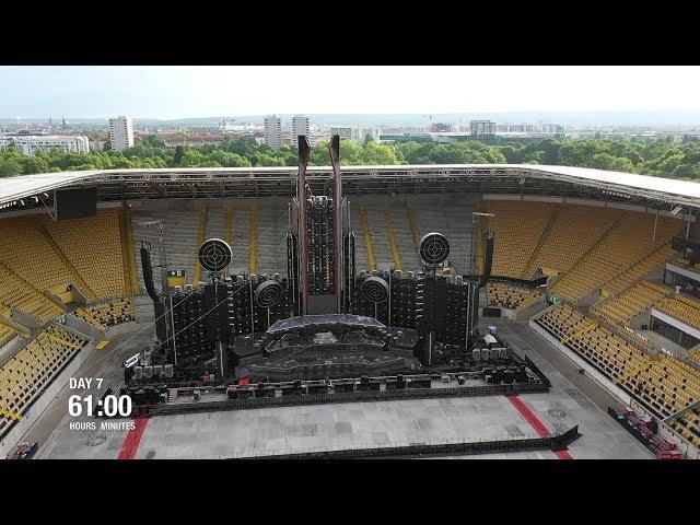 Rammstein - Europe Stadium Tour (Time Lapse)