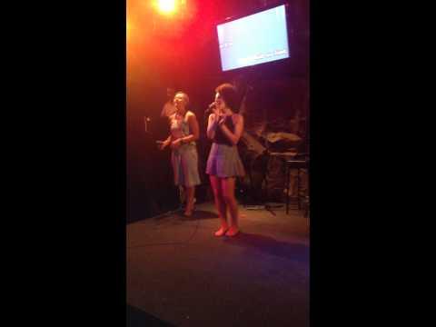 Funky monkey karaoke with Gemma and Fran
