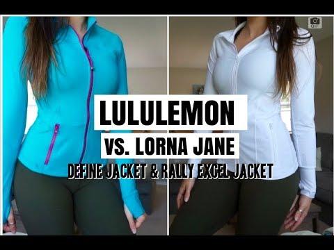 LULULEMON DEFINE JACKET vs. LORNA JANE | $99 vs. $118