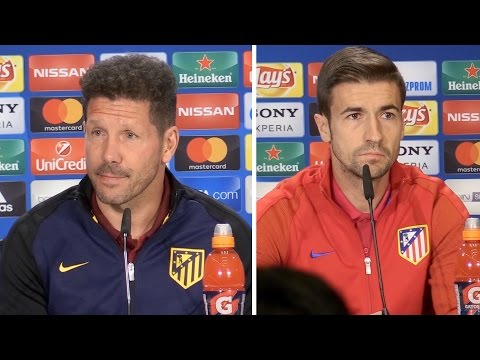 Diego Simeone & Gabi Full Pre-Match Press Conference - Atletico Madrid v Leicester City