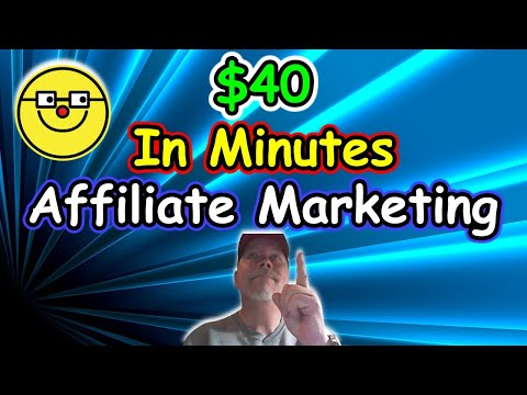 Make $40 in Minutes - Affiliate Marketing Step by Step (make money online) thumbnail
