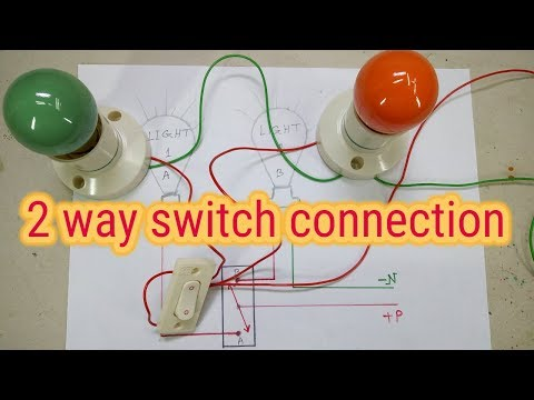 Two Light One Switch Connection 2 Way Switch Two Way Switch Wiring Diagram Youtube