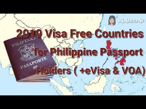 2019 Visa Free Countries For Philippine Passport Holders