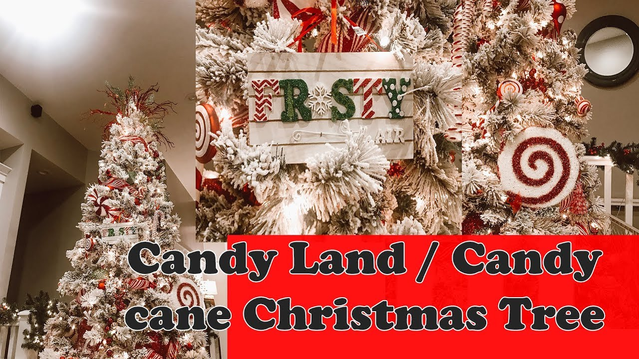 CANDY LAND CANDY CANE CHRISTMAS TREE CHRISTMAS TREE INSPIRATION 2018