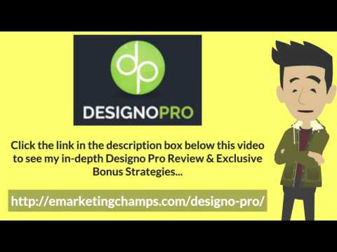 [Designo Pro Review] Honest Review & Bonus Strategies: (DesignoPro Review) See honest review of Designo Pro, learn how it works & discover unique Designo Pro BONUS strategies: http://emarketingchamps.com/designo-pro/  ---- One of the downsides to creating your Designo Pro review website is that you need to invest on staff to monitor your social media as you cannot really just leave it alone like a static website. On top of that you also need to ensure that your staff is up to date with the new developments in the company as this where people will often go looking for news. Consider creating a corporate communications function and depending on the size of your company make it a department or a single person.  Often you have to address concerns on the social media sites, your Designo Pro bonus package, and it is also a good place to check on feedback for your company. So learn to use  social media to gauge where you are in the market and what do people really think about your company.  Social media is one of the hot new trends of 2014 along with mobile computing so this is not something that you can afford to ignore. So if you don't already have a person doing it at least make sure that you read up on the topic. Once you have built up a reputation for yourself or one of your staff has done it for you than you should really take a look at into cross posting or guest authoring with another blog with a similar related product. Remember that your reputation is a resource and that cross pollinating ideas is a good way to grow your network.  DesignoPro Review - https://www.youtube.com/watch?v=JgHiSB_d9sU  See honest review of Designo Pro, learn how it works & discover unique DesignoPro BONUS strategies:  http://emarketingchamps.com/designo-pro/