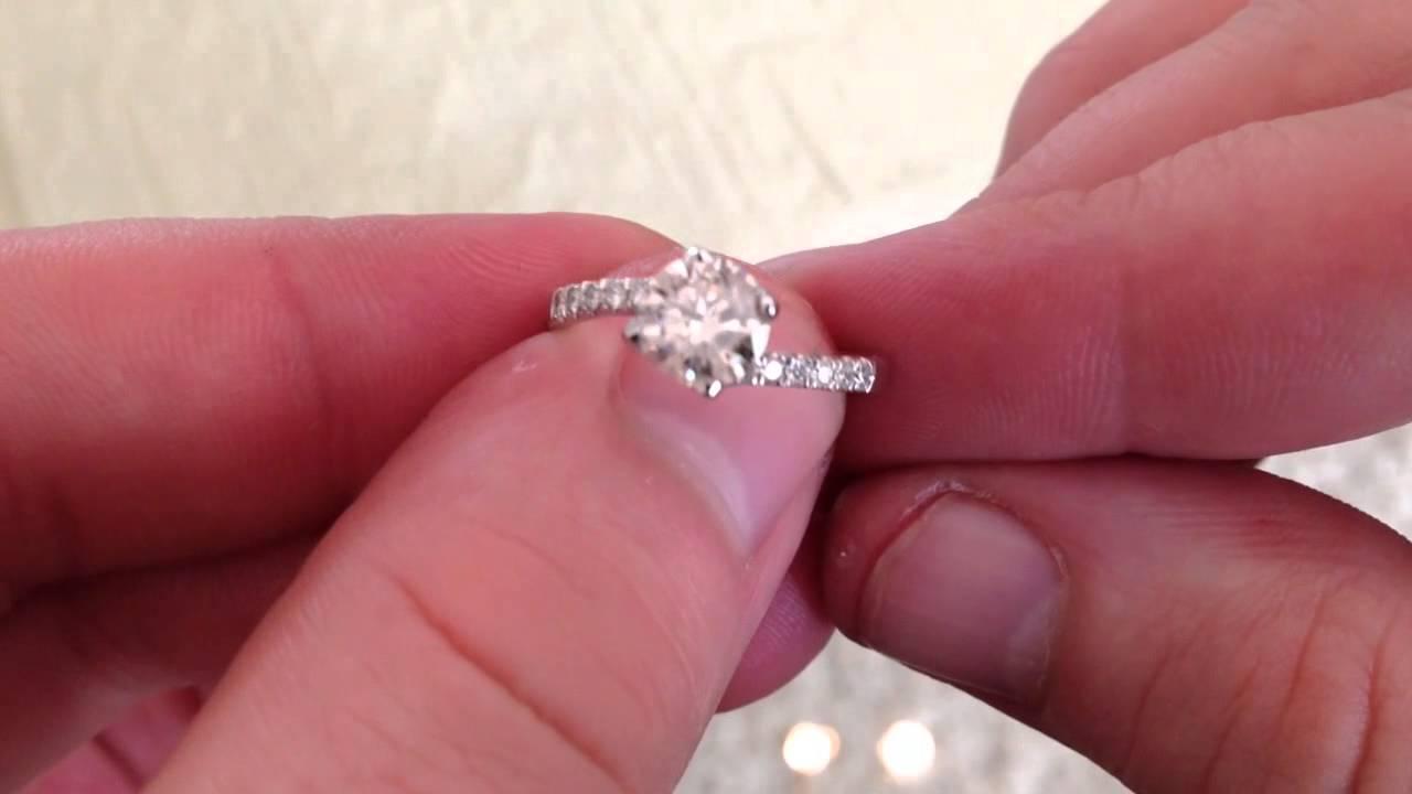 1.03ct Diamant Solitär Brillant Ring - YouTube