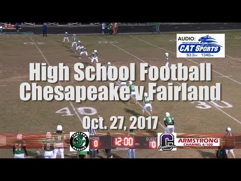 High School Football - Chesapeake vs Fairland
